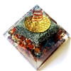 Orgone Large Pyramid -Fire Chakra Vibration Frequency 162HZ - for WEALTH & CREATIVITY - fire element