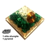 Orgone Pyramid - Fire Element - for creativity & will power