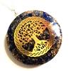 Lapis Tree of life  Orgonite Pendant -