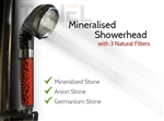 Shungite Scalar Shower Head, Tourmaline