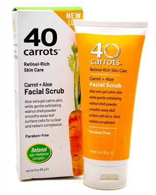 40 Carrots carrot + aloe Facial Scrub 3 Oz.