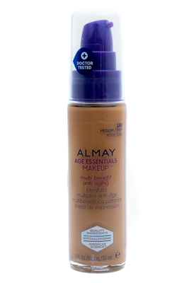 Almay Age Essentials Makeup SPF15 180 Medium/Deep  1 fl oz.