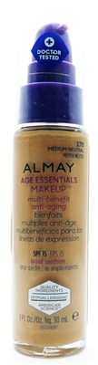 Almay Age Essentials Makeup SPF15 170 Medium Neutral 1 Fl Oz.