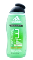 adidas Active Start Hair & Body 3 Body Wash + Shampoo 13.5 Fl Oz.