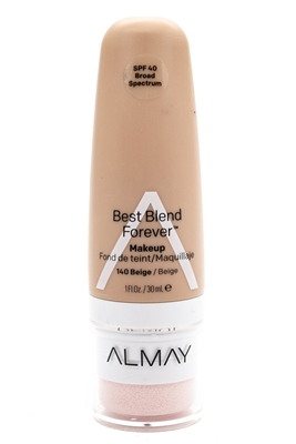 Almay Best Blend Forever Makeup, SPF40, 140 Beige  1 fl oz