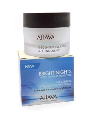 Ahava Bright Nights Night Mineral Makeover Even Tone Sleeping Cream   1.7 fl oz