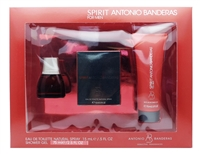 Antonio Banderas Spirit For Men Gift Set: Eau De Toilette .5 Fl Oz., Shower Gel 2.5 Fl Oz., Seductive Fragrance