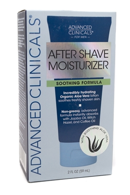 Advanced Clinicals for Men AFTER SHAVE MOISTURIZER with Soothing Aloe Vera  2 fl oz