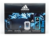 Adidas ICE DIVE Set:  Eau de Toilette 1.7 Oz, Deo Body Spray 4 Oz, 2 in 1 Hair & Body Shower Gel 8.4 Oz Plus Toiletry Bag