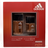 Adidas Moves Him 2 Pc Set: Eau de Toilette Natural Spray 1 fl oz and Eau de Toilette Natural Spray .5 fl oz