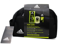Adidas Pure Game For Men 4 pc Set; 3 In 1 Hair, Body & Face Shower Gel  8.4 fl oz, Eau de Toilette Natural Spray 1.7 fl oz, Deodorant Body Spray 4 fl oz,  Toiletry Bag