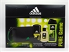 Adidas PURE GAME Set:  Eau de Toilette 1.7 Oz, Deo Body Spray 4 Oz, 2 in 1 Hair & Body Shower Gel 8.4 Oz Plus Toiletry Bag