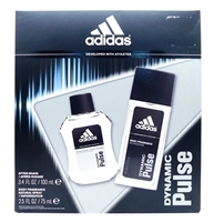 adidas Dynamic Pulse Set: After-Shave 3.4 Fl Oz., Body Fragrance Natural Spray 2.5 Fl Oz.