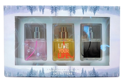 American Eagle Outfitters Fragrance Mist Set: AEO Me, Live Your Life, AEO Vintage (each 3.4 Fl Oz.)