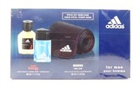 Adidas for men Box Set: Deep Energy Eau De Toilette 1.7 Fl Oz., Moves For Him 1 Fl Oz., adidas Scarf