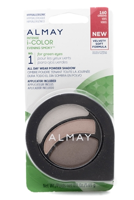 Almay Intense i-Color Evening Smoky NO.1 for green eyes, 160 Greens  .2oz