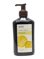 Ahava Mineral Botanic Velvet Body Lotion, Tropical Pineapple and White Peach  13.5 fl oz