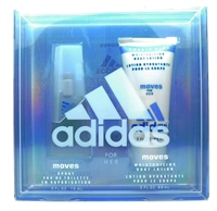 adidas moves for her Set: Eau De Toilette Spray .5 Fl Oz., Moisturizing Body Lotion 3 Fl Oz.