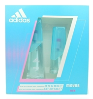 adidas Moves Her Set: Eau de Toilette Spray 1 Fl Oz., Eau de Toilette Spray .5 Fl Oz.