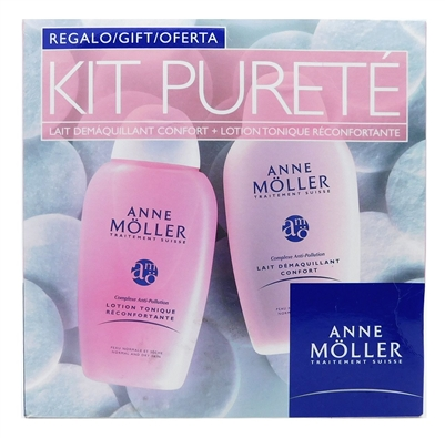 Anne Moller Kit Purete Gift: Creamy Cleansing Lotion 5 Fl Oz., Refreshing Alcohol-Free Tone 5 Fl Oz.