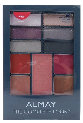 Almay The Complete Look 300 Medium/Deep: Shadow .04 Oz., Blush .13 Oz., Lipstick .03 Oz., Lip Gloss .03 Oz.