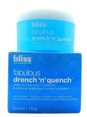 bliss Fabulous Drench 'N' Quench Cream-To-Water Lock-In Moisturizer 1.7 Fl Oz.