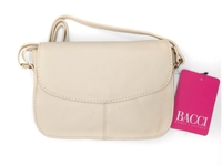 Bacci Genuine Leather Small Cross-Body Bag, Sand