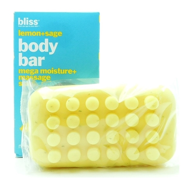 bliss Lemon + Sage Body Bar mega moisture + massage soap 5 Oz.