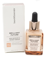Bare Minerals BRILLIANT FUTURE Age Defense & Renew Serum, Target Early Signs of Aging ,Re-Energize and Renew Radiance, Combat Environmental Stressors   1 fl oz