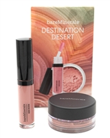 bare Minerals DESTINATION DESERT Mini Gen Nude Lip Laquer (.08oz) and Loose Mineral Blush (.03oz)