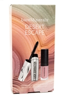 bare Minerals DESERT ESCAPE Lash Domination Mini Mascara (.18 fl oz) Mini Matte Gen Nude Lipcolor (.06oz)