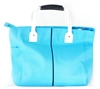 Borghese Teal Tote with Zipper