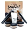 bareMinerals Up Close & Beautiful 30-Day Complexion Starter Kit  medium beige: Prime Time Original Foundation Primer, Original Foundation SPF 15, Concealer SPF 20, Original Mineral Veil Finishing Powder, Mini Full Flawless Face Brush, Mini Concealer Brush