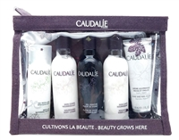 Caudalie Beauty Grows Here Set: Micellar Cleansing Water 1.69 Fl Oz., Nourishing Body Lotion 2.3 Fl Oz., Fleur De Vigne Shower Gel 2.3 Fl Oz., Nourishing Body Lotion 2.3 Fl Oz., Hand and Nail Cream 1 Fl Oz.