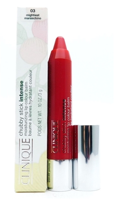 Clinique Chubby Stick Intense Moisturizing Lip Colour Balm 03 Mightiest Maraschino .10 Oz.