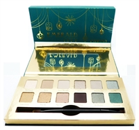 cargo EMERALD CITY Eye Shadow Palette: 12 Different Eye Shadows 12 x .03 Oz., Mirror, Dual-Ended Shadow Brush