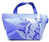 Crabtree & Evelyn Small Purple Tote Bag with Button Closing
