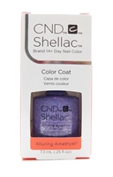 CND Shellac Brand 14+ Day Nail Color Color Coat Alluring Amethyst .25FLOz