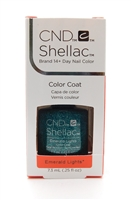 CND Shellac Brand 14+ Day Nail Color Color Coat Emerald Lights .25FLOz