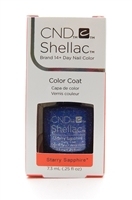CND Shellac Brand 14+ Day Nail Color Color Coat Starry Sapphire .25FLOz