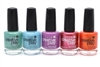 CND Creative Play Nail Lacquer set of 5: My Mo-Mint, Drop Anchor, Orchid You Not, Flirting With Fire, Orange You Curious (each .46 Fl Oz.)