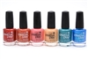 CND Creative Play Nail Lacquer set of 6: Persimmon-Ality, See U In Sienna, Jammin Salmon, Cemintine Anytime, Head Over Teal, Ship-Notized (each .46 Fl Oz.)