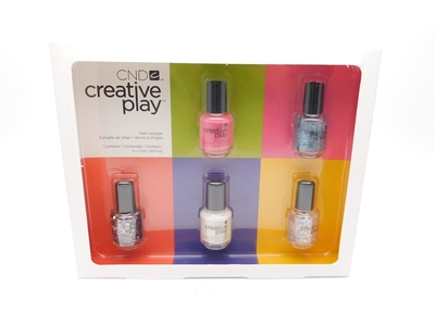 CND Creative Play Nail Lacquer Set: Read My Tulips, Kiss + Teal, Glittabulous, I Blanked Out, Got A Light? (each 3.7 mL.)