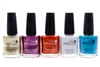 CND Vinylux Weekly Polish set of 5; Locket Love, Tango Passion, Fine Vermillion, Thistle Thicket, Lost Labyrinth  (each .5 fl oz)