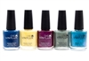 CND Vinylux Weekly Polish set of 5; Seaside Party, Sun Bleached, Tango Passion, Wild Moss, Lost Labarynth  (each .5 Fl Oz.)