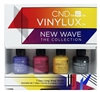 CND Vinylux New Wave The Collection 7 Day Long Wear Polish: Video Violet, Oink Flamingo, Banana Clips, Weekly Top Coat each .125 Fl Oz.