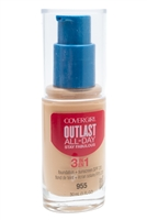 ​Covergirl Outlast Stay Fabulous 3-in-1 Foundation + Sunscreen SPF20, 955 Soft Honey  1 fl oz