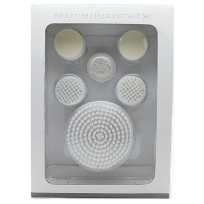 DERMABRUSH Attachment Replacement Set: Body Brush, Pumice Stone, Facial Brush, Sponge