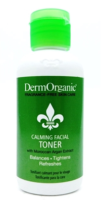 DermOrganic Calming Facial Toner with Moroccan Argan Extract 4 Fl Oz.