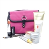 Elizabeth Arden Pink and Black Bag Set: Lipstick Goldenrose Pearl .14 Oz., Eye Pencil Smoky Black .0387 Oz., Gold Restorative Capsules .11 Oz., Night Cream .25 Oz., Smoothing Exfoliator 1.7 Oz., Hand Treatment .5 Oz., Eye Moisturizing Treatment .17 Oz.